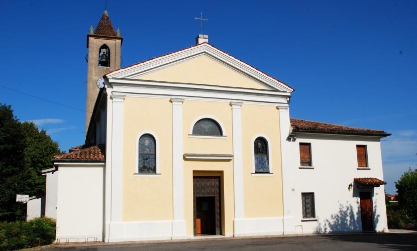 Chiesa Parrocchiale e campanile di Cadè
